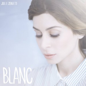 "Cover du nouvel album de Julie ""Blanc"""