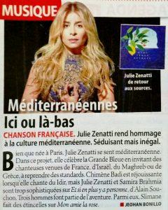 """Article sur """"Méditerranéennes"""" dans Télé-Loisir"""
